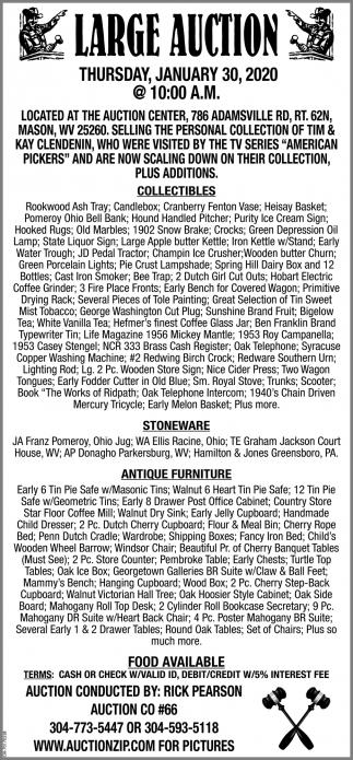 Large Auction - January 30