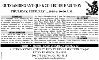 Outstanding Antique & Collectible Auction