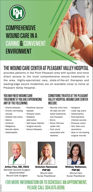 Comprehensive wound care in a caring & convenient environment