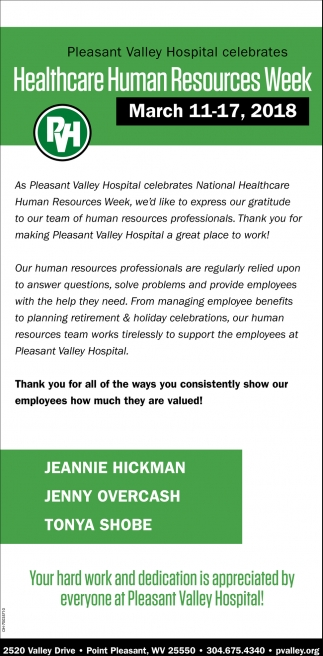 Healthcare Human Resoruces Week