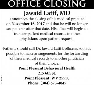 Office Closing