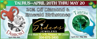 20% off Diamond & Emerald Birthstones!
