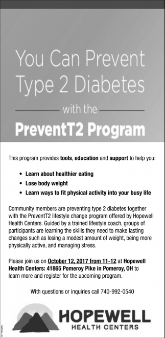 You Can Prevent Type 2 Diabetes with the PreventT2 Program