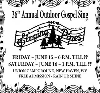 36th Annual Outdoor Gospel Sing