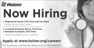 Registered Nurse, Licensed Practical Nurse, Resident Assistant
