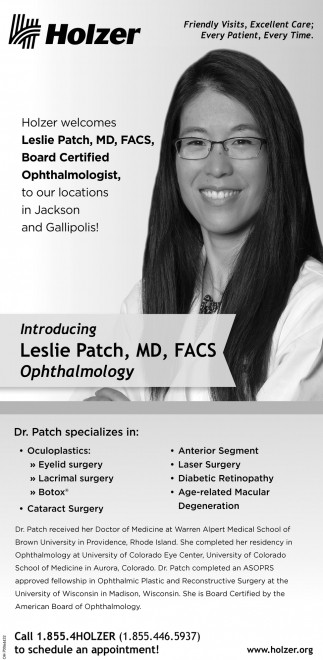Leslie Patch, MD, FACS, Ophthalmologist