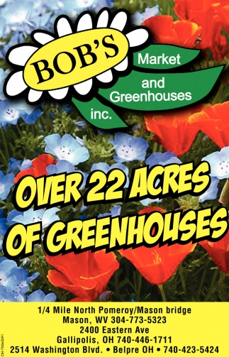 Over 22 acres of greenhouses