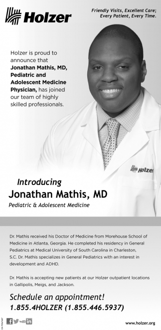 Jonathan Mathis, MD, Pediatric and Adolescent Medicine Physician