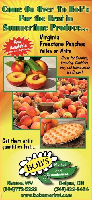 Virginia Freestone Peaches