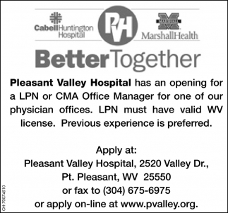 LPN or CMA Office Manager