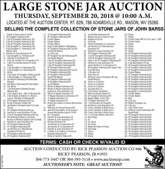 Large Stone Jar Auction