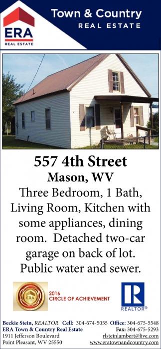 557 4th Street, Mason, WV