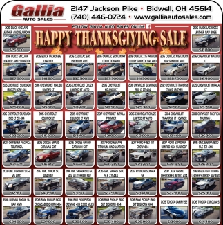 Happy Thanksgiving Sale