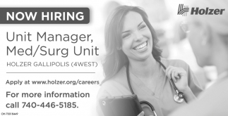 Unit Manager, Med/Surg Unit