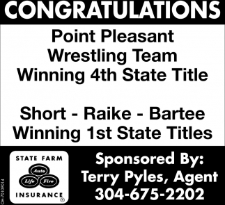 Congratulations - Point Pleasant Wrestling Team