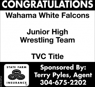 Congratulations - Wahama White Falcons