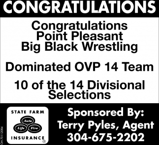 Congratulations - Point Pleasant Big Black Wrestling