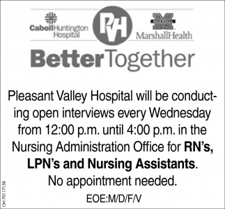 Registered Nurse, Licensed Practical Nurses, Nursing Assistants