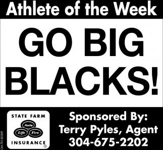 Go Big Blacks!  - Athlete of the Week