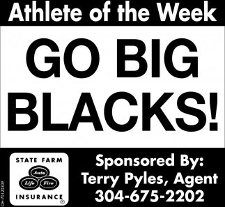Go Big Blacks!  - Athlete of the Week