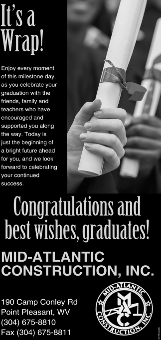 Congratulations and best wishes, graduates!