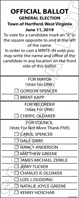 Official Ballot - General Election