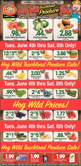 Hog Wild Truckload Produce Sale!