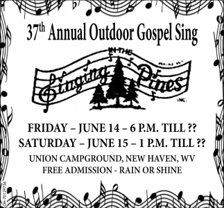 37th Annual Outdoor Gospel Sing