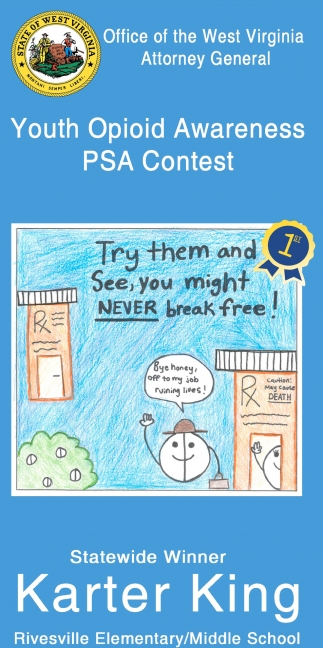 Youth Opioid Awareness PSA Contest - Statewide Vinner - Karter King