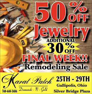 50% off Jewelry - Additional 30% off Final Week
