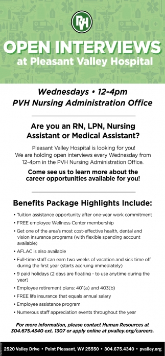 Registered Nurse, Licensed Practical Nurses, Nursing Assistant, Medical Assistant