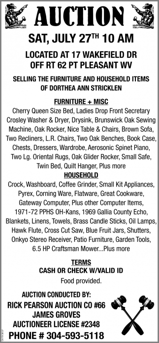 Auction - July 27th