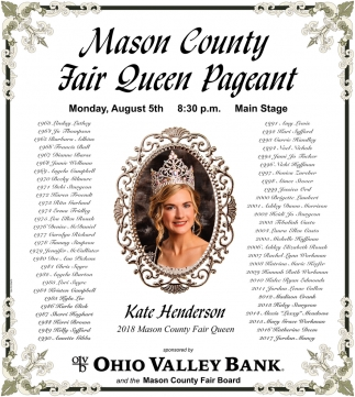 Mason County Fair Queen Pageant