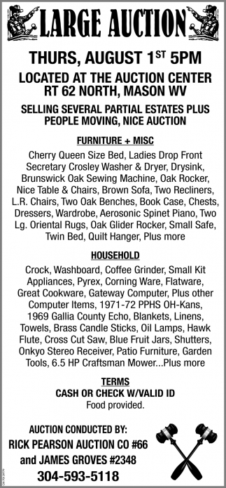 Large Auction - July 27th