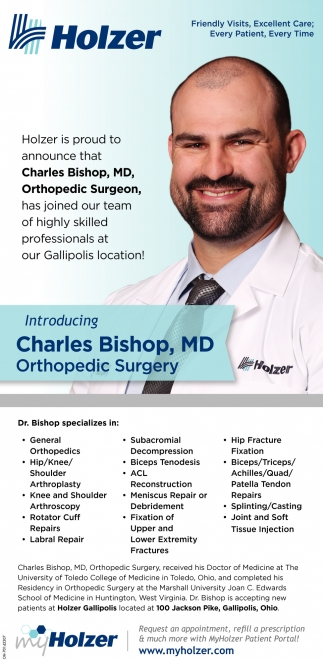 Introducing Charles Bishop, MD / Orthopedic Surgery