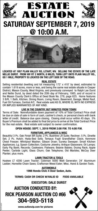 Estate Auction - September 7