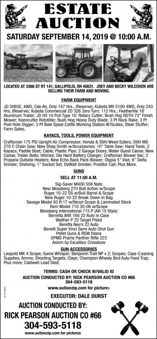 Estate Auction - September 14