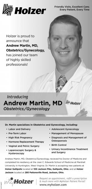 Andrew Martin, MD, Obstetrics/Gynecology