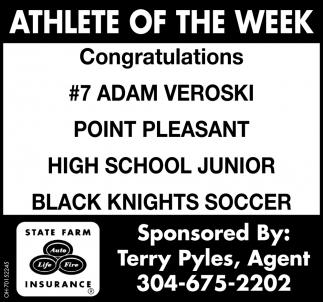 Adam Veroski  - Athlete of the Week