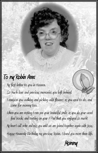 To my Robin Ann