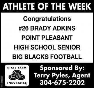 Brady Adkins  - Athlete of the Week