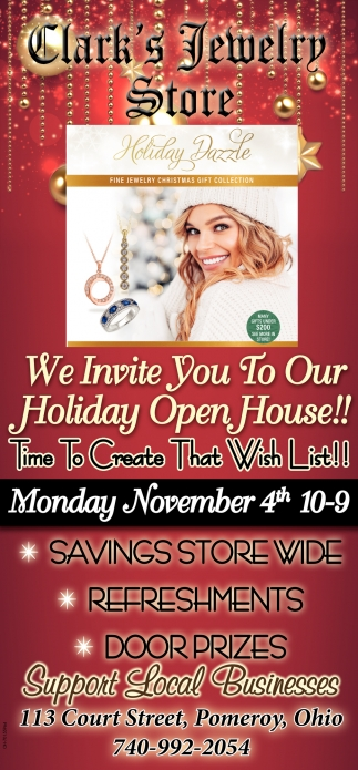 Holiday Open House - Novembert 4th