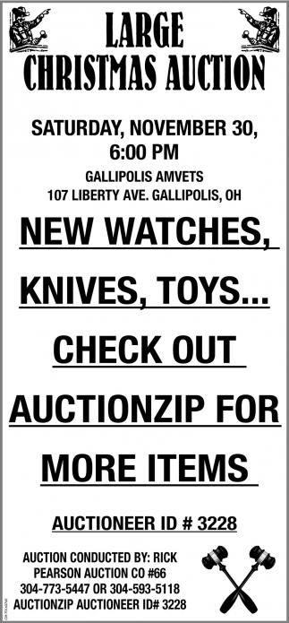 Large Christmas Auction - November 30