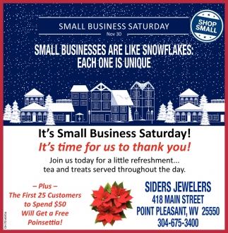 Small Businesses Are Like Snowflakes