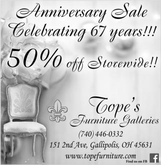 Anniversary Sale Celebrating 67 Years!