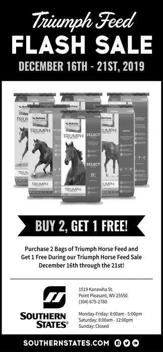 Triumph Feed Flash Sale - December 16th