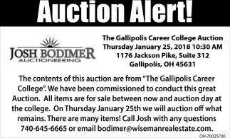 Auction Alert!